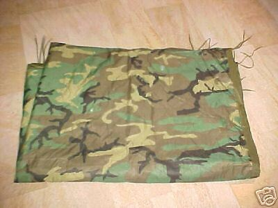 Military Surplus,Wet Weather  Woodland Camo Poncho Liner, Used