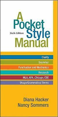 A Pocket Style Manual, Sommers, Nancy, Hacker, Diana, Acceptable Book