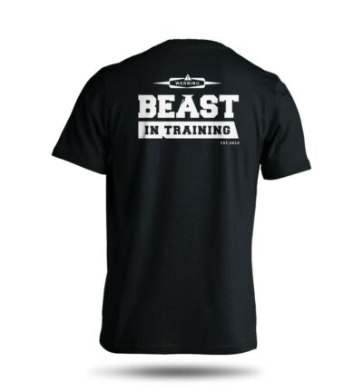 Beast In Training Workout Gym 100% Cotton Gildan Solid Short Sleeve Tee S M L XL