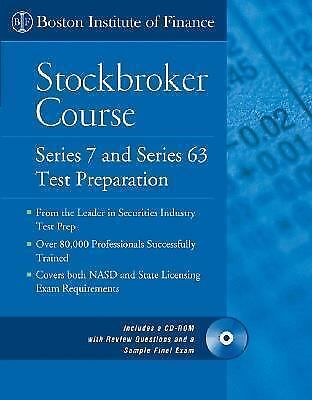 The Boston Institute of Finance Stockbroker Course: Series 7 and 63 Test Prep +