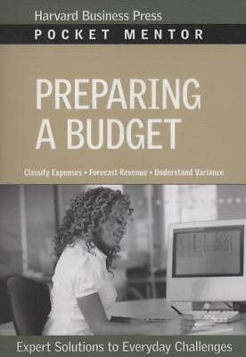 Preparing a Budget (Pocket Mentor) by