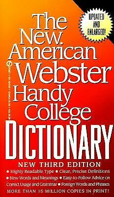 The New American Webster Handy College Dictionary: New Third Edition by