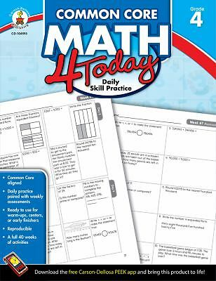Common Core Math 4 Today, Grade 4: Daily Skill Practice (Common Core 4 Today), M