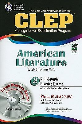 CLEP® American Literature w/CD (CLEP Test Preparation) by Stratman Ph.D., Jacob