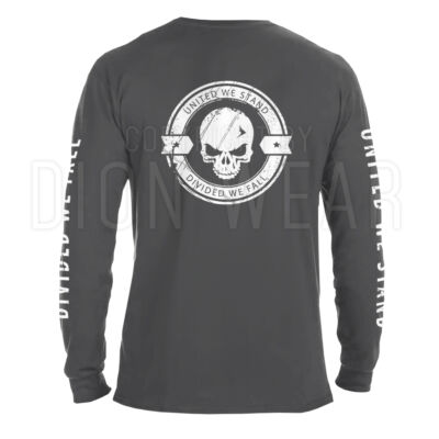 Military Divided We Fall Tactical Skull Men's Long Sleeve Shirt Army USMC Police