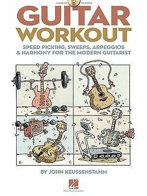 GUITAR WORKOUT - SPEED PICKING  SWEEPS  ARPEGGIOS & HARMONY FOR THE MODERN GUITA