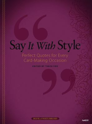 Say It With Style, , Good Book