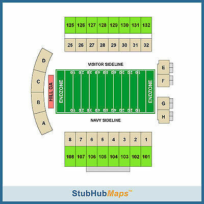 Navy Midshipmen Football vs South Florida Bulls Tickets 10/31/15 (Annapolis)