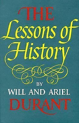 The Lessons of History by Durant, Will