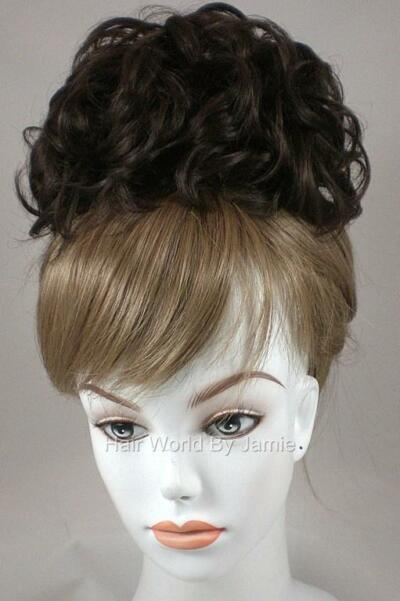 Bun Base Chignon Updo w/Drawstring Pageant Hairpiece Wedding Piece Topper Wiglet