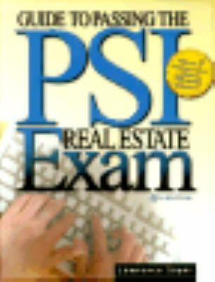 Guide to Passing the Psi Real Estate Exam, Sager, Lawrence, Good Book