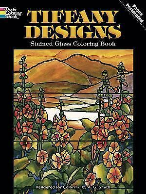 Tiffany Designs Stained Glass Coloring Book Dover Design Stained Glass Coloring