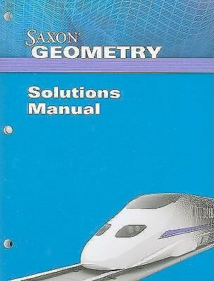 Saxon Geometry Solutions Manual, Saxon, Acceptable Book