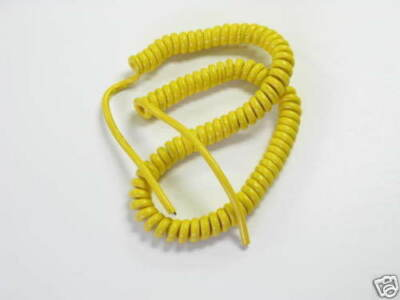 Coil Cord, Power cord, SVT #18, 3c 14 Ft, Yellow 125 pc