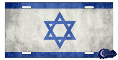 Israeli Flag License Plate - Israel, Jewish