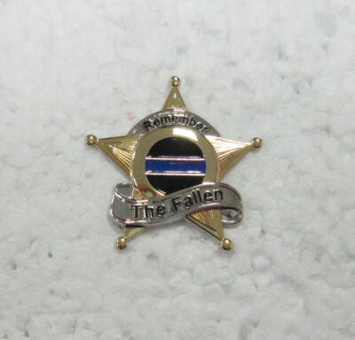 Thin Blue Line Fallen Police Law Enforcement 9/11 9-11 Memorial Lapel Pin Badge