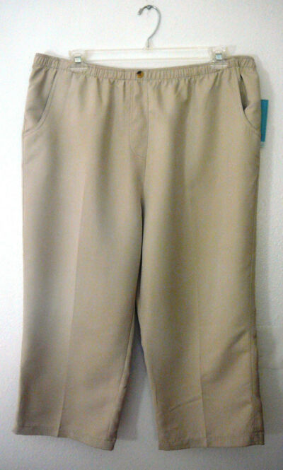 HILLARD & HANSON CAPRIS~Elastic Waistband~Pockets~Color~Miss Plus Size Vary~NWT