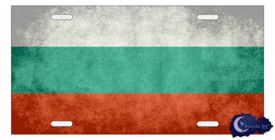 Bulgarian Flag License Plate - Flag of Bulgaria