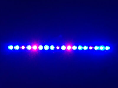 "Aquarium LED Light Bar 20"" ReefBar Pro Ultra Actinic Blue 18 x 3W Bridgelux 29g"