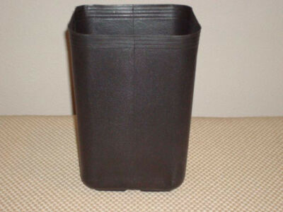 Nursery pots plant pot 25 USED Square Approx 1 gal Rigid Grow Bag ccontainers