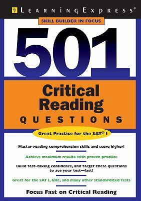 501 Critical Reading Questions (501 Series) by LearningExpress Editors