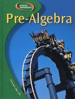Pre-Algebra, Student Edition, McGraw-Hill, Good Book