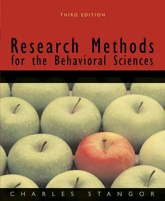 Research Methods for the Behavioral Sciences by Stangor, Charles (Charles Stang