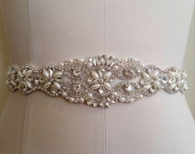 Wedding Sash Belt, Bridal Sash Belt - Crystal Pearl Sash Belt = BIG SALE!!!!!