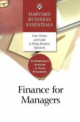 Finance for Managers (Harvard Business Essentials) by Harvard Business School P