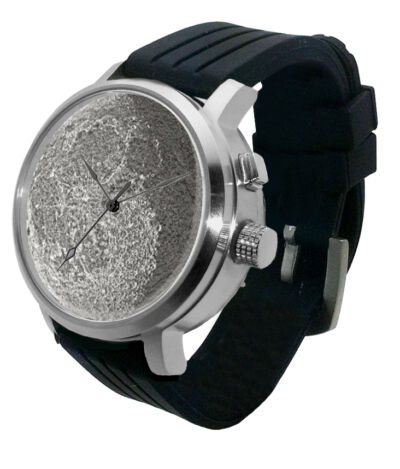 The Full Moon Luna Watch - LED lithophane light, apollo lunar dark night vision