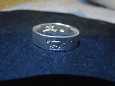 NEW PURE SILVER .999 BULLION SZ103/4 MANS SKULL RING BY ANARCHY PM JEWELRY #7-14