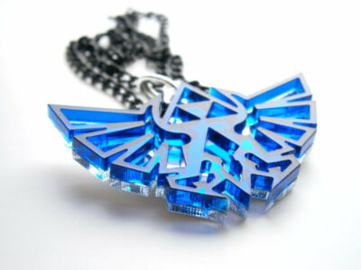 Zelda Necklace - Laser Cut Blue Transparent  Acrylic Pendant