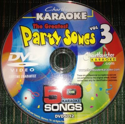 Chartbuster Karaoke -The Greatest Party Songs Vol 3 - 50 Songs  $49.99 Value-New
