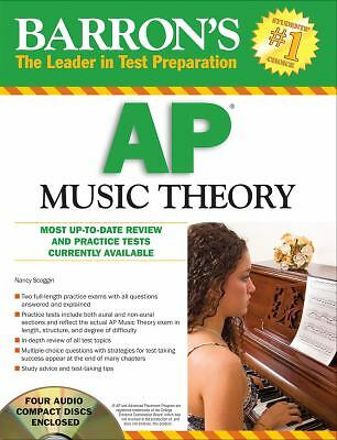 Barron's AP Music Theory with Audio Compact Discs, Nancy Scoggin, Good Book