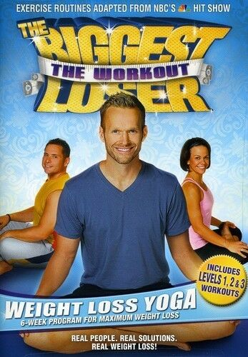 The Biggest Loser: The Workout - Weight Loss Yoga, Good DVD, Bob Harper, Cal Poz