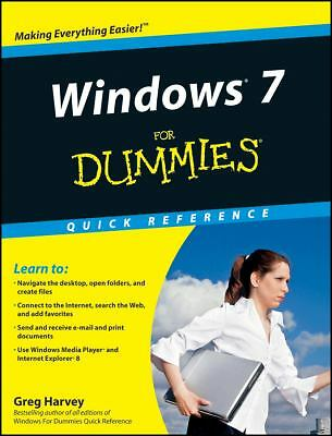 Windows 7 For Dummies Quick Reference by Harvey, Greg