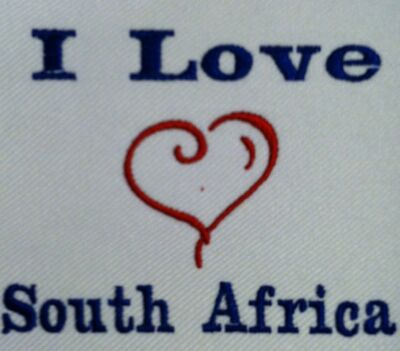 I Love South Africa. Carter's Baby Bodysuit Embroidery