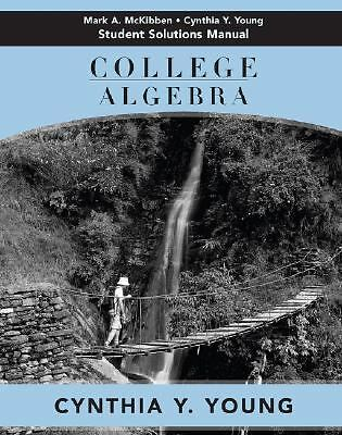 College Algebra, Student Solutions Manual, Young, Cynthia Y., Good Book