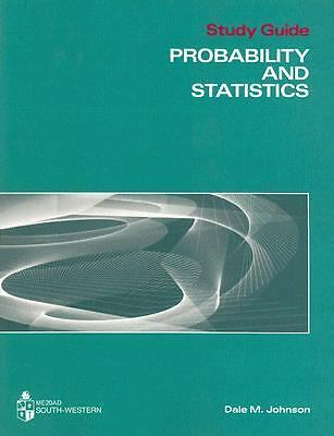 Probability and Statistics, Johnson, Dale M., Good Book