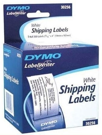 "Dymo Shipping Labels - 2.31"" X 4"" 1 Roll Label White (30256)"
