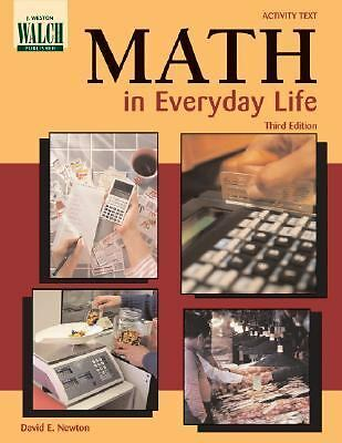 Math in Everyday Life, David E. Newton, Good Book