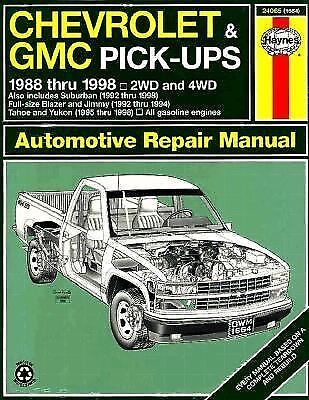 Chevrolet & Gmc Pickups Automotive Repair Manual : Models Covered : Chevrolet an