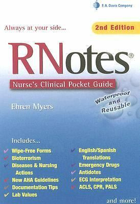 RNotes: Nurse's Clinical Pocket Guide, Myers, Good Book