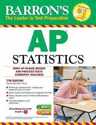 Barron's AP Statistics, 7th Edition by Sternstein, Marty