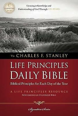 Charles F. Stanley Life Principles Daily Bible, NASB by Thomas Nelson