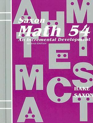 Math 54: An Incremental Development, Stephen Hake, John Saxon, Acceptable Book