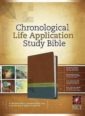 Chronological Life Application Study Bible NLT, TuTone, , Excellent Book