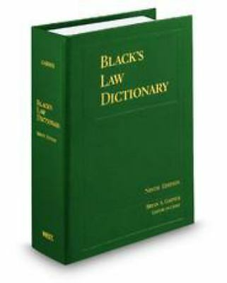 Black's Law Dictionary, Standard Ninth Edition by Bryan A. Garner