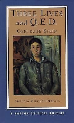 Three Lives and Q.E.D. (Norton Critical Editions), Stein, Gertrude, Good Book