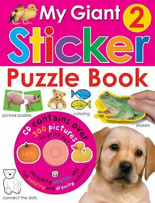 My Giant Sticker Puzzle Book 2 (with CD) (Giant Sticker Activity), Priddy, Roger